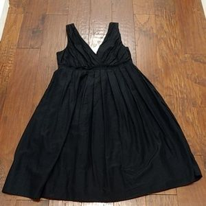 Gap black cotton/silk blend sleeveless dress NWT